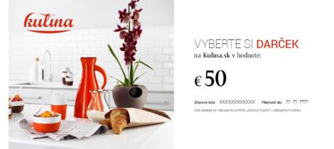 Kulina darcekova poukazka 50 eur