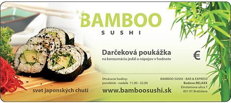 Bamboo sushi darcekova poukazka 540x235